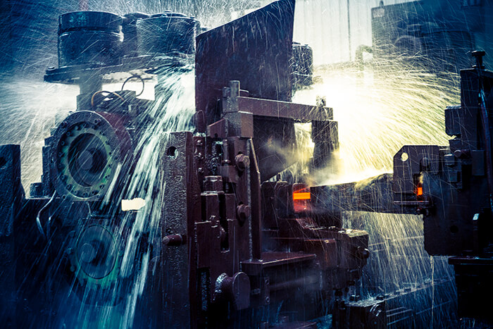 water on rolling mill