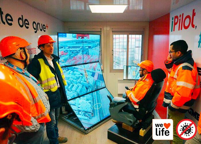 Construction site of the future: remote crane operation