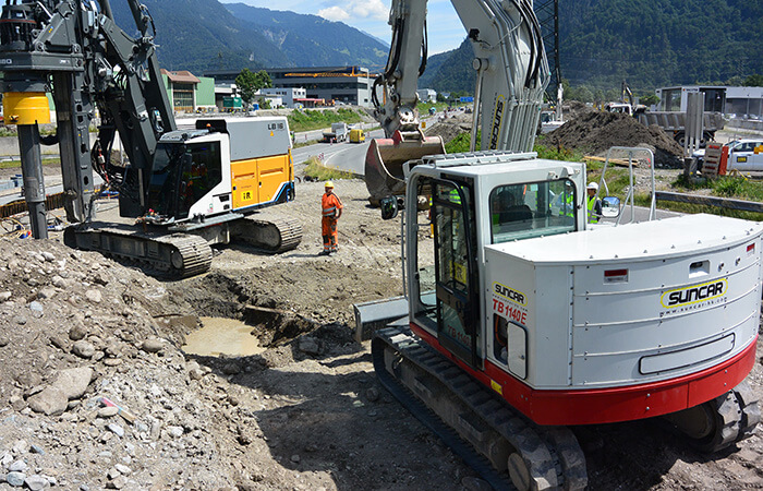 electric construction equipment 55-ton drilling rig electrified by SUNCAR HK AG