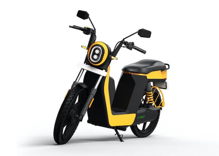 Product image of a yellow Greendzine Quark U electric moped