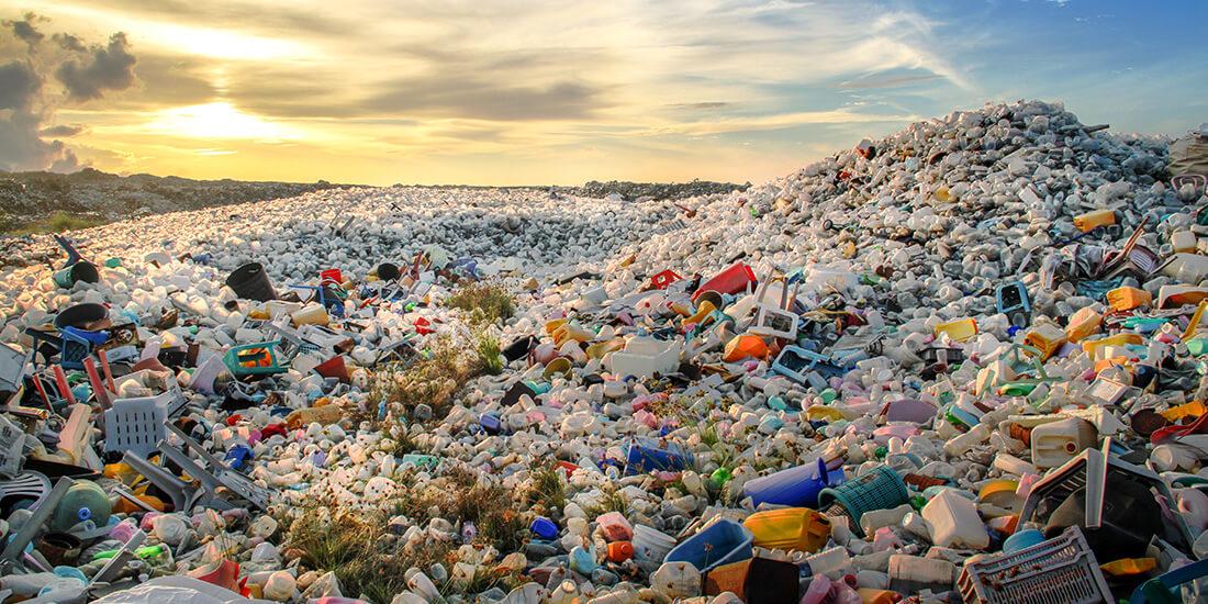 plastic problem in a landfill