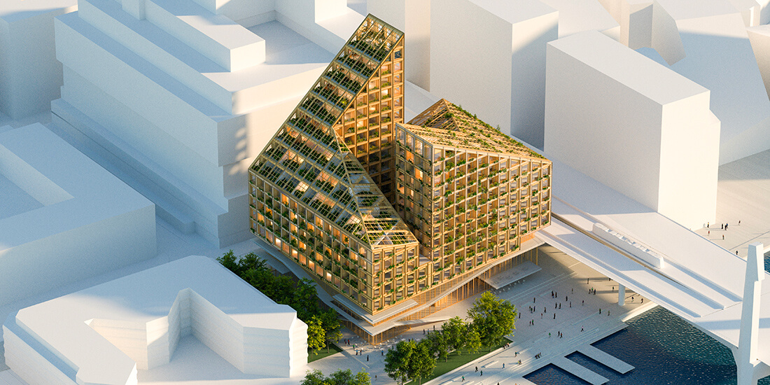 Sustainable Architecture: aerial view of Dort