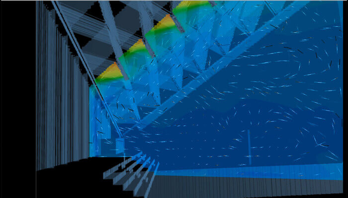 how bim helps construction computer screen shows roof temperature analysis