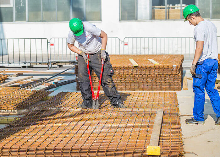 building affordable housing - Local workers are trained to operate a plant.