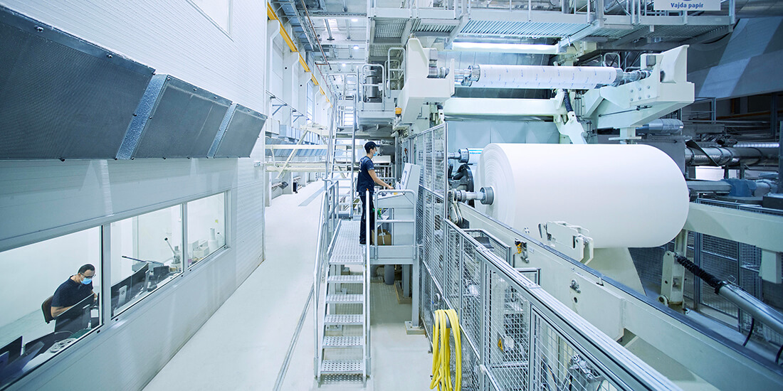 Digital Manufacturing:A fully automated ANDRITZ tissue production line for high-quality paper.