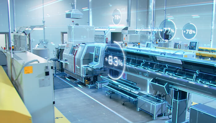 What is a digital twin Digital models in use at a factory.