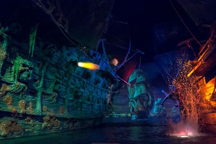 "Shanghai Disneyland's ""Pirates of the Caribbean: Battle for the Sunken Treasure"" attraction"