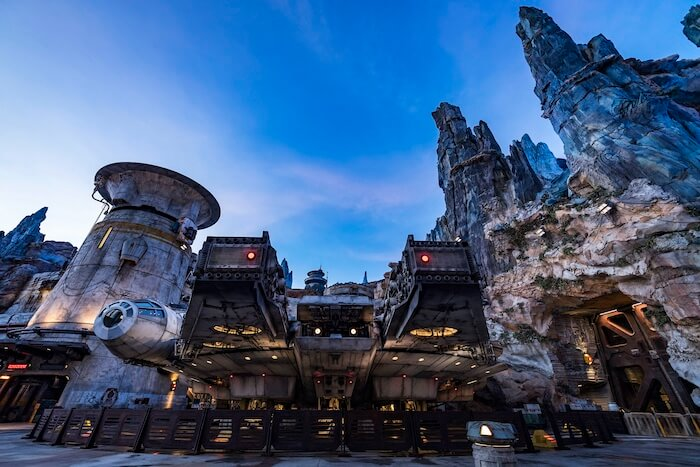 Millennium Falcon: Smugglers Run at Disneyland Park in California