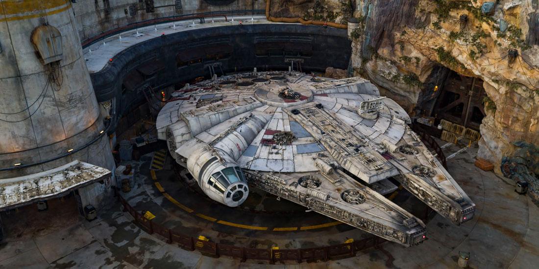 Millennium Falcon at Star Wars Galaxy's Edge in Walt Disney World