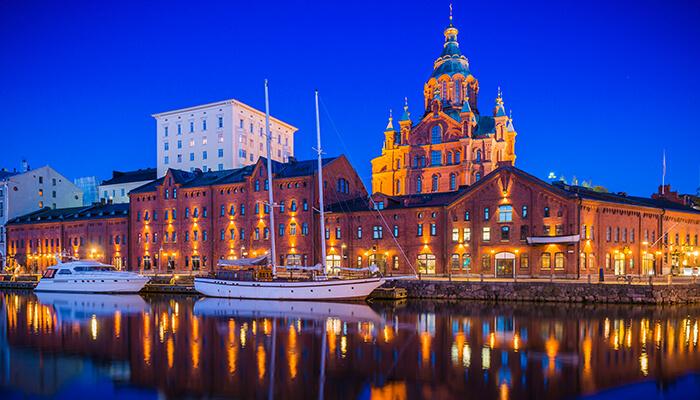 Image of the Helsinki skyline; Finland has been a European leader in adopting global BIM mandates.