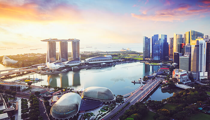 Image of Singapore, an early adopter of global BIM policies.