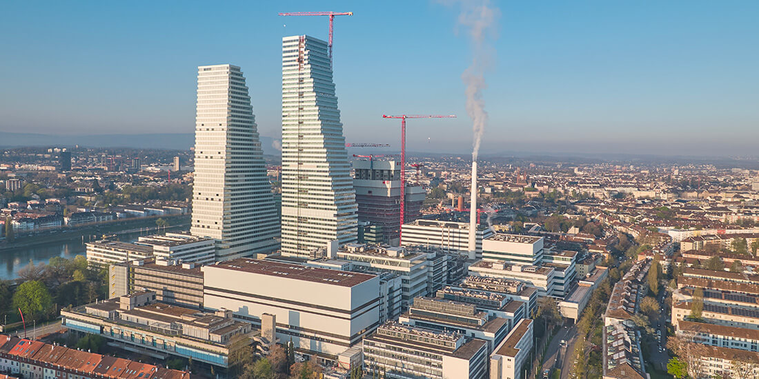 After its official inauguration in May 2022, Roche Tower 2 in Basel will be, at 673 feet, the tallest building in Switzerland. It is significantly taller than Tower 1, which is 584 feet high.