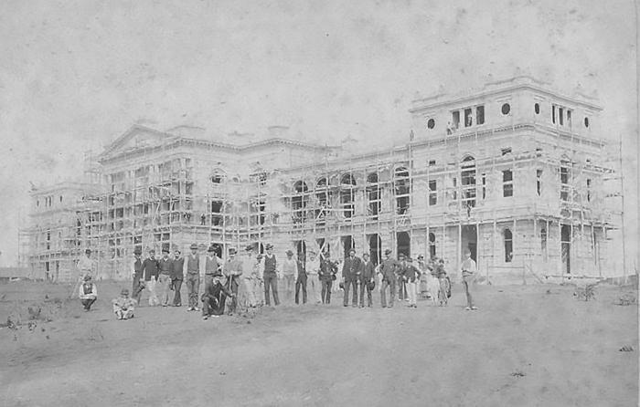 preserving Brazil's Ipiranga Museum under construction in 1888