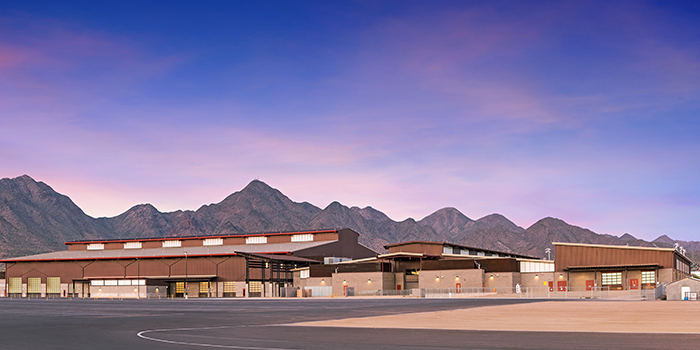 exterior view of the WestWorld venue in Scottsdale, AZ