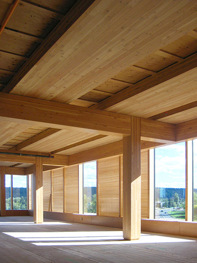 interior of wood innovation and design centre