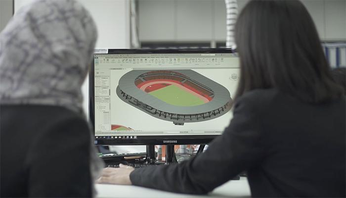sports stadium design aidea technologies early adopter of BIM