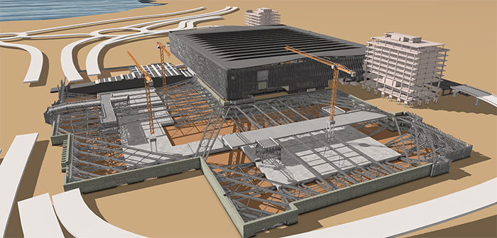 Color rendering of HKIA Terminal 2 expansion