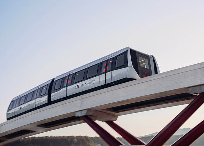 max bögl tsb maglev train on test track