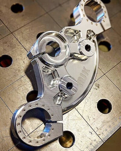 custom harley parts photo of triple clamp