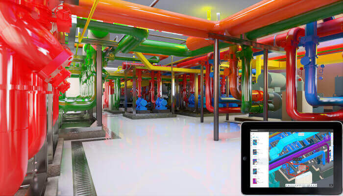 bim process model of engine room phoenix mountain sports park chengdu
