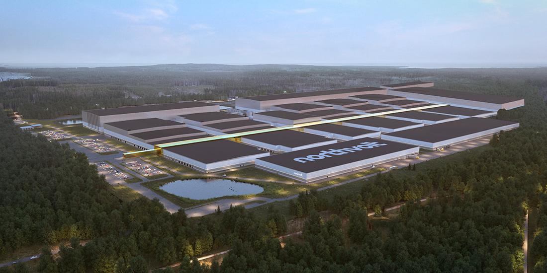 A start up sueca Northvolt está trabalhando com várias marcas automotivas, inclusive a Volkswagen, para construir gigafábricas.