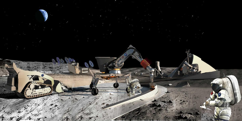 3D-Drucken mit Beton: ein Wohnhaus in 20 Stunden und eine Mondstation