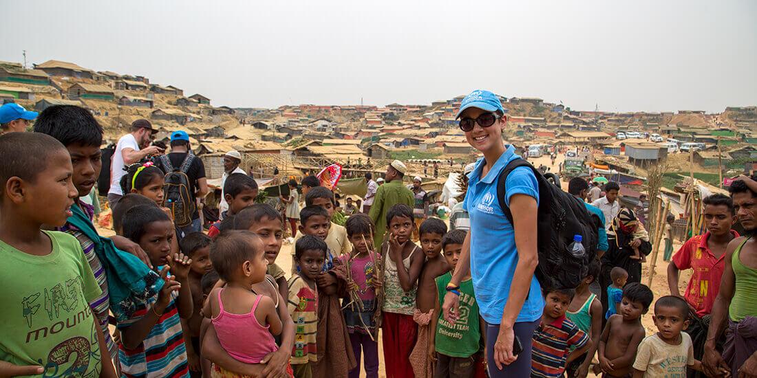 UNHCR baut mithilfe von Technologie Unterkünfte für Rohingya-Flüchtlinge in Bangladesch
