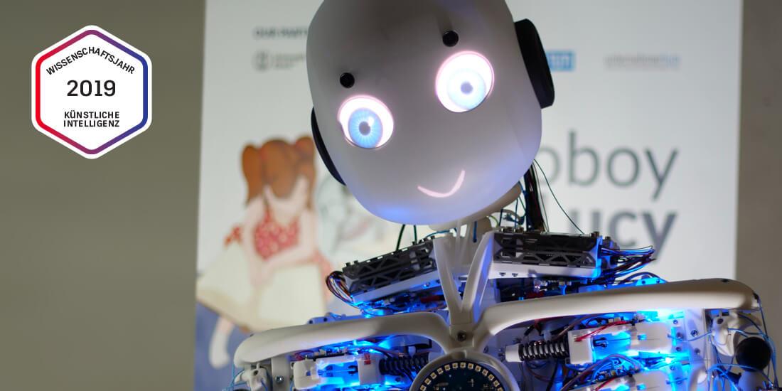 Roboy 2.0 ist ein Forschungsprojekt der Technischen Universität München. Der Roboter soll dem Menschen im gesamten Auftreten so nahe wie möglich kommen. Mit freundlicher Genehmigung von Roboy.