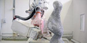 Wie hätten Michelangelos Skulpturen ausgesehen, wenn seine Gehilfen Roboter gewesen wären?