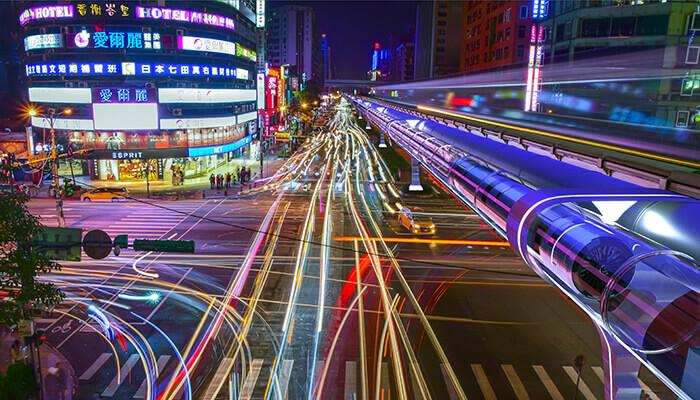 Hyperloop-Verbindungen zwischen Großstädten könnten eine umweltfreundlichere und bequemere Alternative zum Fliegen darstellen. Mit freundlicher Genehmigung von Zeleros.