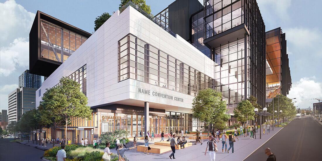 Darstellung des Washington State Convention Center. Mit freundlicher Genehmigung von LMN Architects.