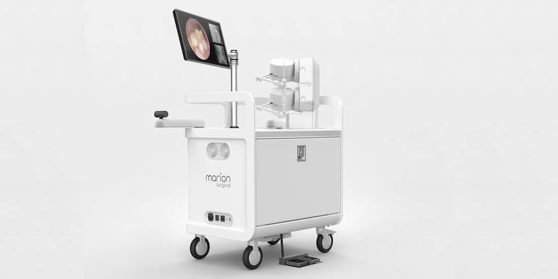 Marion Surgical aus Toronto erstellte mit Software von Autodesk und 3D-Druckverfahren verschiedene Ausfertigungen ihrer Benutzeroberfläche für OP-Simulationen. Mit freundlicher Genehmigung von Marion Surgical.