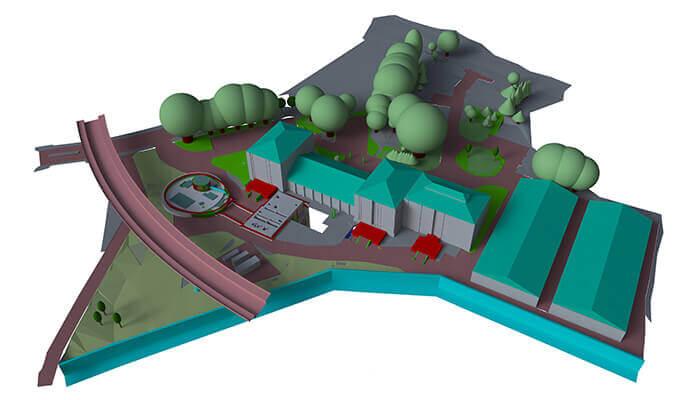 Ein Modell für das Thames-Tideway-Tunnelprojekt. Mit freundlicher Genehmigung von Mott MacDonald.