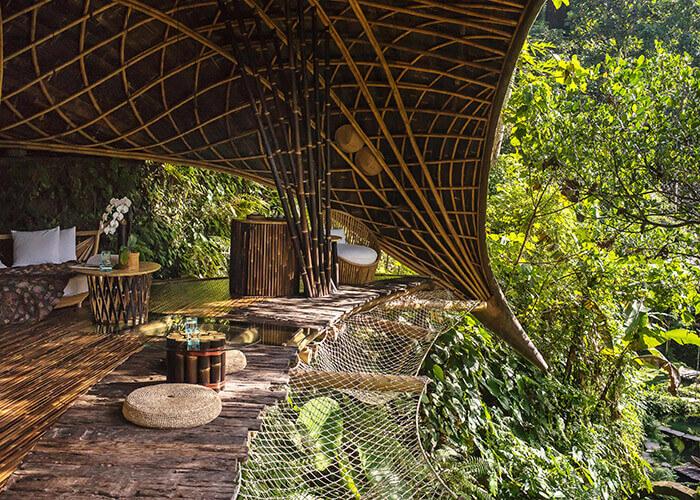 Entwurf von Ibuku für das Moon House im Öko-Resort Bambu Indah auf Bali in Indonesien. Mit freundlicher Genehmigung von Alina Vlasova.