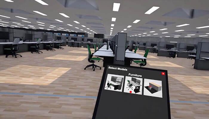 Raumentwürfe können in einer VR-Benutzeroberfläche angezeigt und bearbeitet werden. Mit freundlicher Genehmigung von Chin-Yi Cheng.