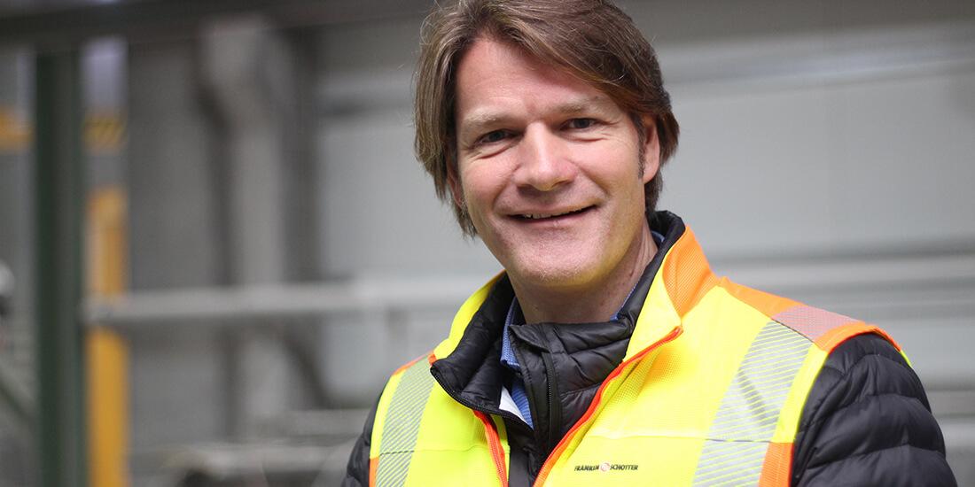 Marc Aßmann ist gelernter Steinmetz. Er ist heute BIM-Experte in der Natursteinindustrie. Credit: Friederike Voigt