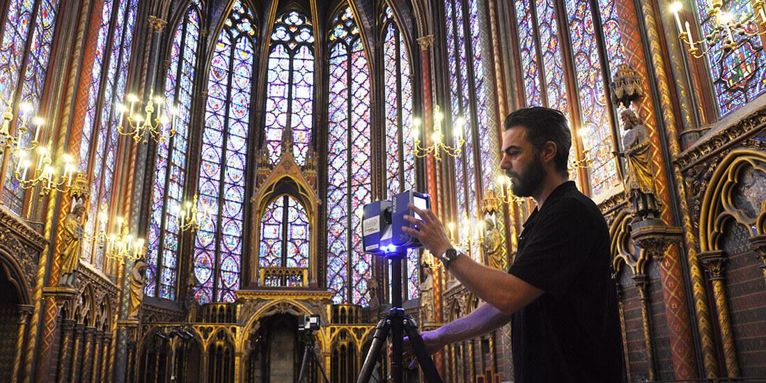 Dreidimensionale Erfassung der Sainte-Chapelle in Paris. Mit freundlicher Genehmigung von Art Graphique & Patrimoine.