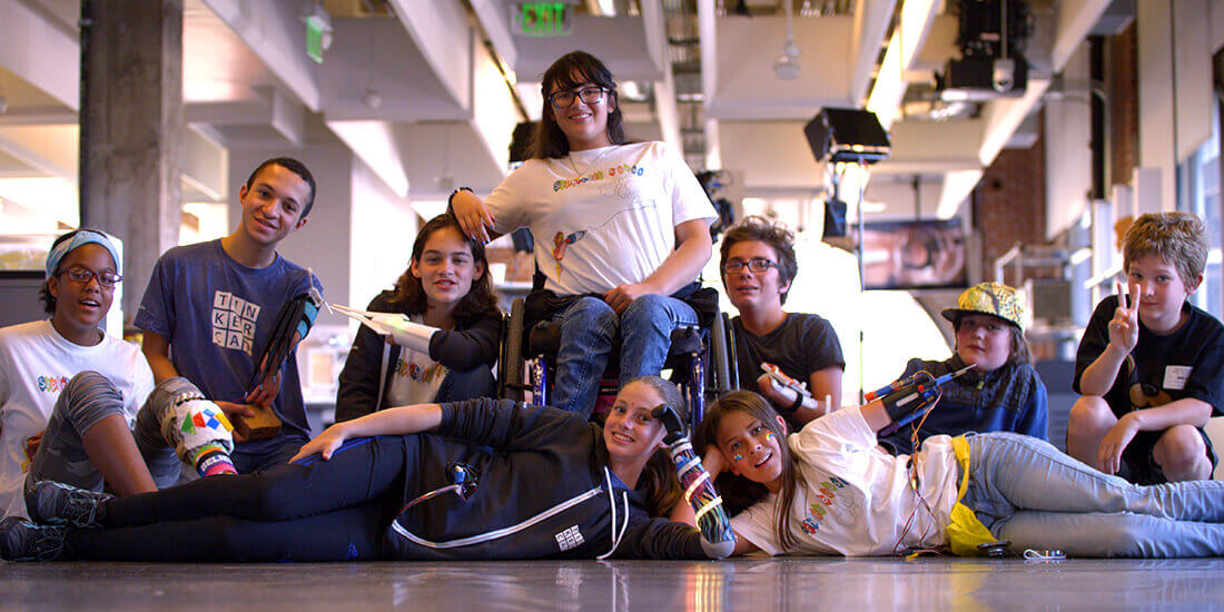 Portrait of students who participated in Superhero Boost at the Pier 9 Technology Center.