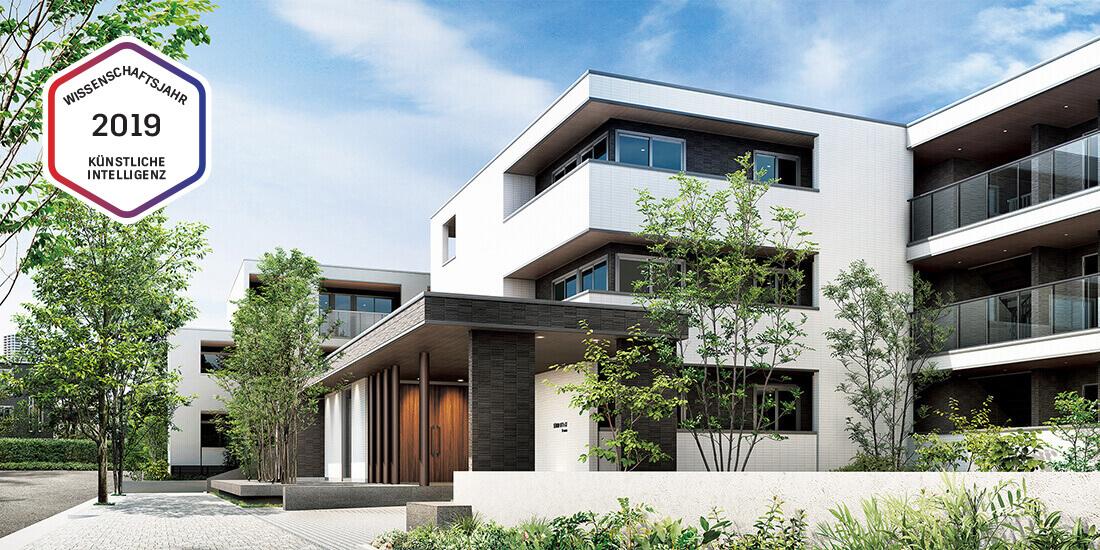 Dreistöckige Wohnanlage nach Plänen von Daiwa House. Mit freundlicher Genehmigung von Daiwa House Industry.
