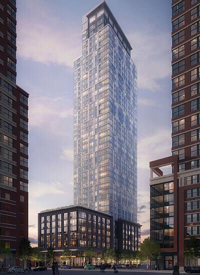 Der Wohnkomplex 184 Morgan Street in Jersey City (New Jersey). Mit freundlicher Genehmigung der Hatfield Group.