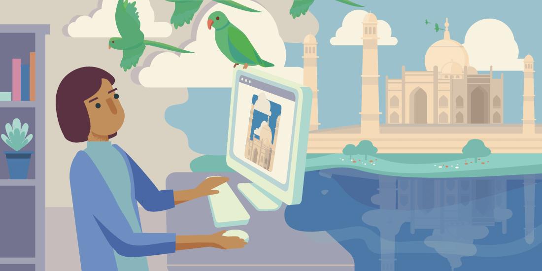 Ohne Wartezeit und ganz bequem von zu Hause: virtueller Tourismus macht es möglich.