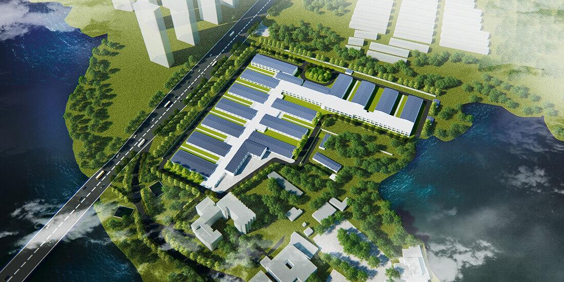 Die Planungsarbeiten für das Huoshenshan-Krankenhaus im chinesischen Wuhan dauerten 24 Stunden, der Bau 10 Tage. Mit freundlicher Genehmigung von CITIC ADI.