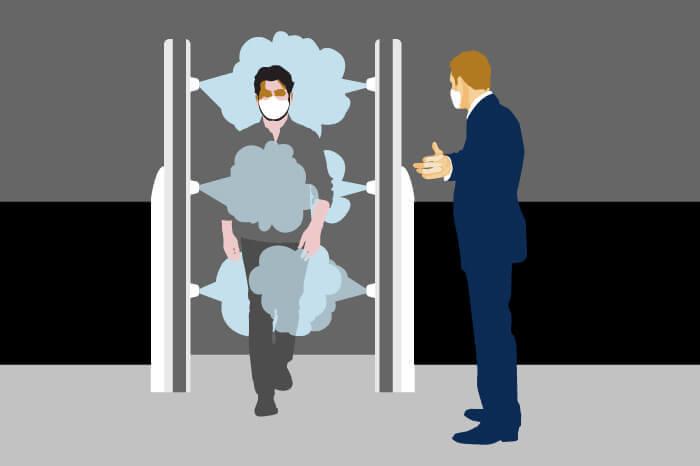 Ganze Industriezweige entwickeln sich derzeit, um neue Produkte für die Gesundheit und Sicherheit der Menschen am Arbeitsplatz zu entwerfen. Illustration von Micke Tong.
