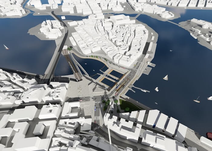 Rendering Slussen-Projekt Stockholm