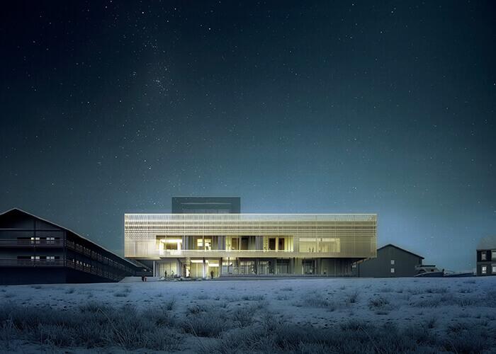 Ein Paradebeispiel skandinavischer Architektur:In der grönländischen Heilanstalt haben PatientenunmittelbarenZugang zur Natur.