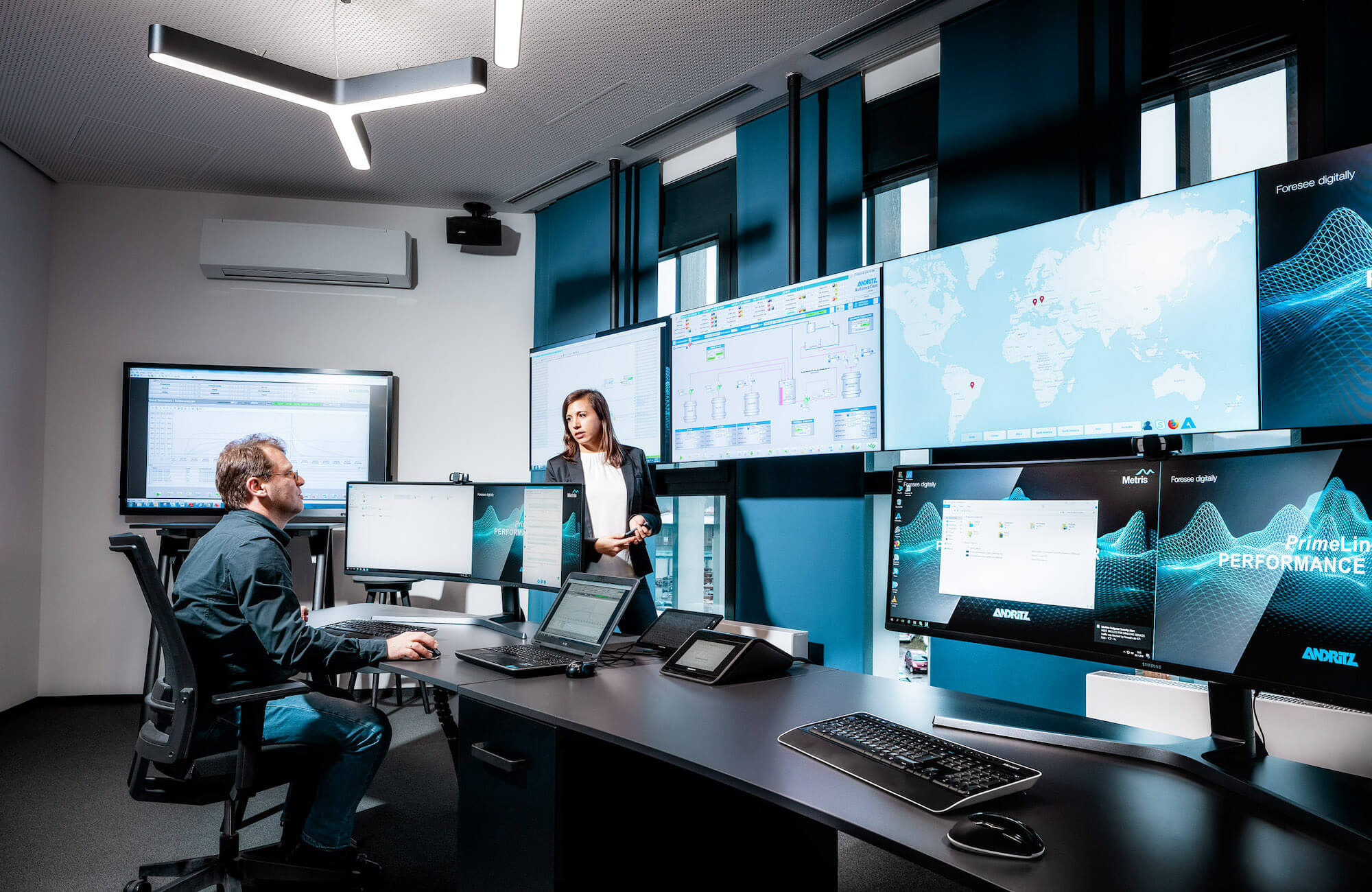 Die Performance Center bieten digitalen Service und Support mit Hilfe eines Digitalen Zwillings