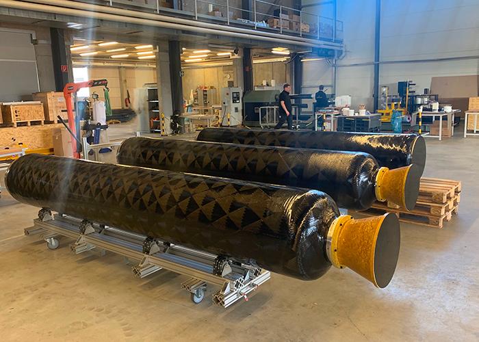 Blick in die Serienproduktion der Kleinträgerraketen von HyImpulse in Neuenstadt am Kocher.