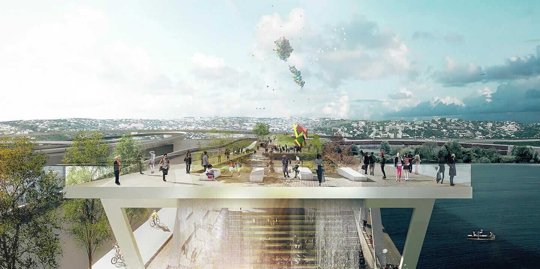 未来の橋 11番ストリート・パークブリッジ