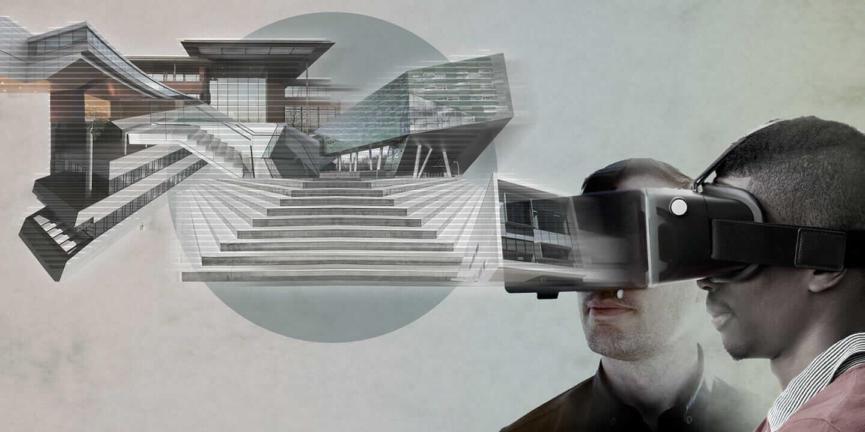 VR ヘッドセット ユーザー 建築デザイン 概観