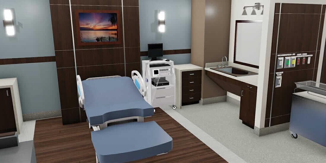 VR によって医者や看護師、スタッフをバーチャル建設の味方に